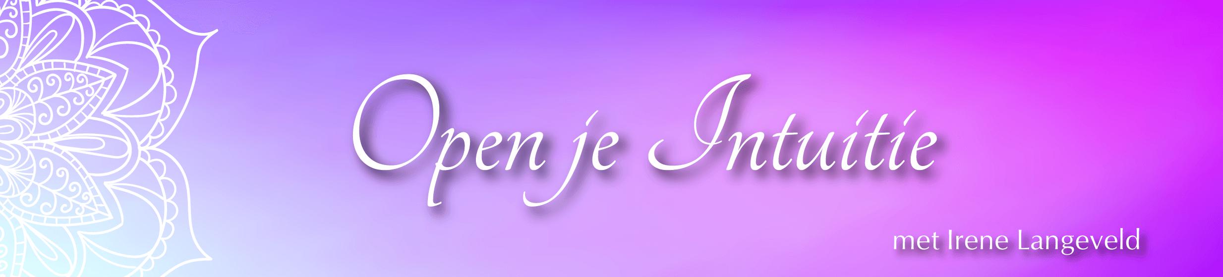 Open Je Intuitie Online Cursus